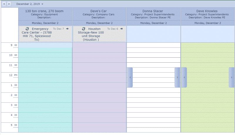 Job Resource Calendar