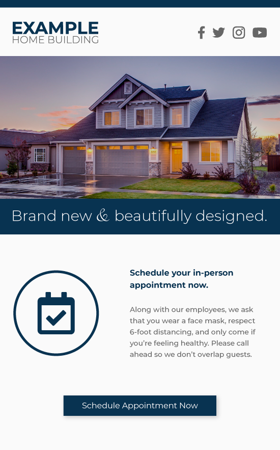 Example Home Builder Email