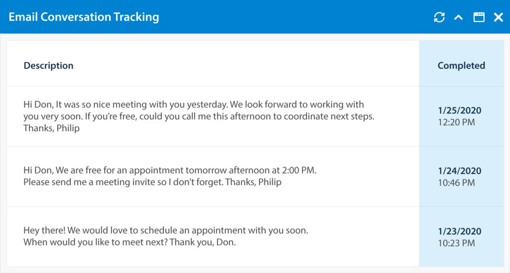 TopBuilder Email Conversation Tracking