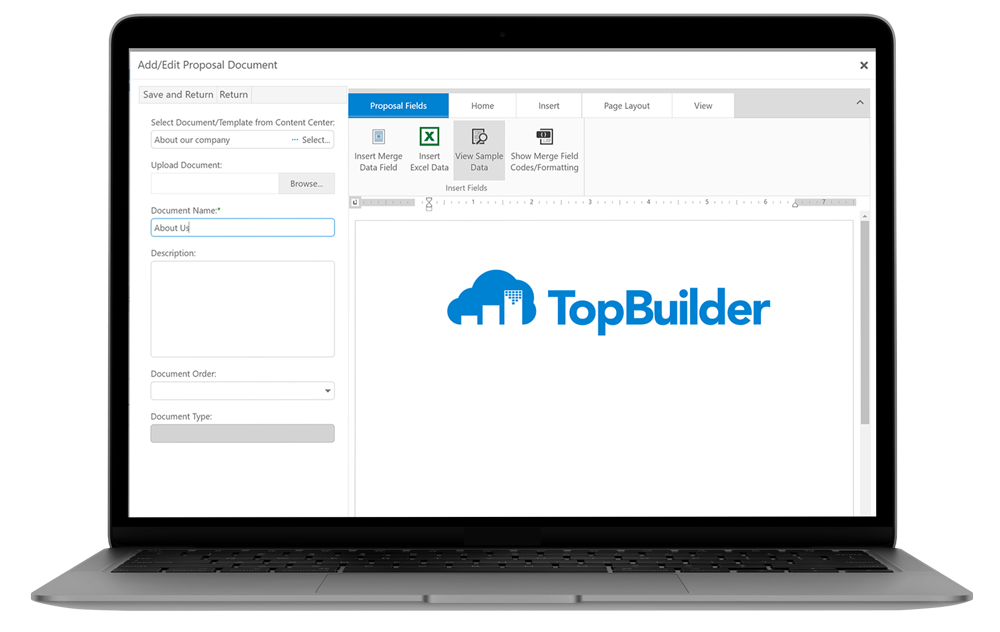 Proposal Software | TopBuilder CRM